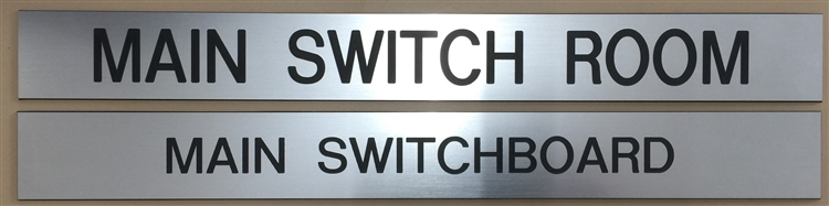 Main Switch Room Engraved Sign