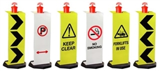Portable Signs for Temporary T-Top Bollards