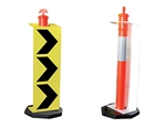 Lateral Shift Marker Sign For Temporary T-Top Bollards