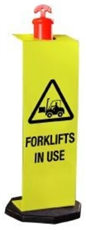 Forklifts In Use Sign For Temporary T-Top Bollards