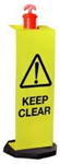 Keep Clear Sign for Temporary T-Top Bollards