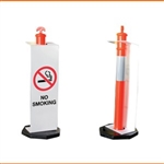 No Smoking Sign for Temporary T-Top Bollards