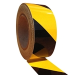 50mm x 45.7mtr - Reflective Tape - Cl.2 - Yellow and Black