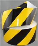 Class 2 Reflective Tape Black/Yellow 100mm x 45.7mtr roll