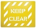 Keep Clear Stencil - 600x450mm Polypropylene Stencil