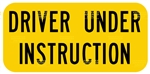 2 X Driver Under Instruction Reflective Sign Plates