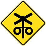 Railway Level Crossing Flassing Signal Ahead