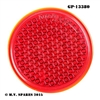GP-13380 GLASS REFLECTOR LENS - RED - KING BEE - FORD GP - DODGE
