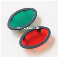 4524-39 & 4525-39 HARLEY DAVIDSON MILITARY DASH PANEL LENSES