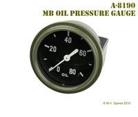 MILITARY WWII JEEP MB GPW GAUGE � OIL PRESSURE � WILLYS MB A-8190