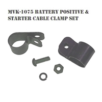 MILITARY WWII JEEP MB GPW BATTERY POSITIVE CABLE STARTER CABLE CLAMP CLIP SET MVK-1075 mvspares.com