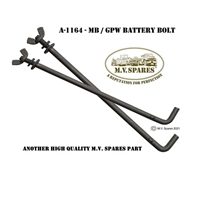 A-1164 BOLT BATTERY HOLD DOWN ROD A-2466 WINGNUT mvspares.com WWII JEEP PARTS
