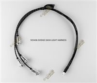 WWII DODGE PARTS, DASH LIGHT HARNESS 4 WIRE