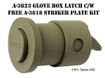MILITARY WWII JEEP MB GPW LATCH - GLOVE BOX A-3823 and A-3818 Glove Box Latch Striker Plate Kit