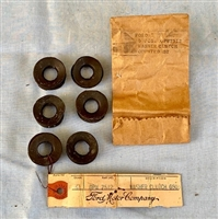 NOS ORIGINAL WWII MB GPW JEEP CLUTCH EQUALIZER SHAFT RUBBER SEAL SET OF SIX M.V. SPARES