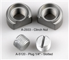 "WWII JEEP PARTS, A-2933 FLOOR DRAIN CLINCH NUT, A-5120 1/4"" PLUG"