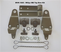 WWII JEEP MB TOP BOW BRACKET KIT, PIVOT AND BRACKET, WWII JEEP PARTS