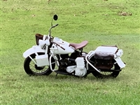 HARLEY DAVIDSON WLA 52 MOTORCYCLE WHITE MILITARY POLICE GERMANY