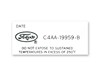 A/C Dryer Decal DF550 1964 1/2 - 1966 - Osborn Reproductions