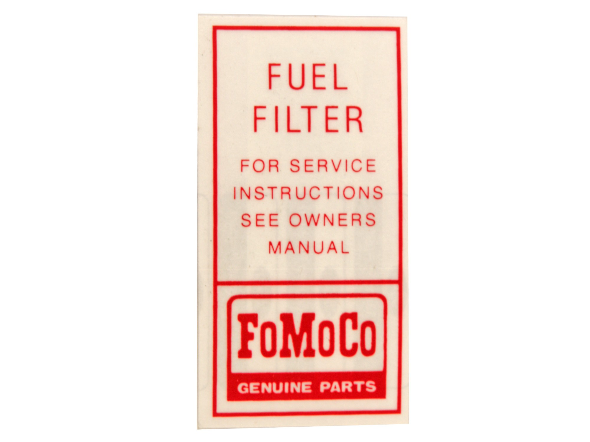 1966 mustang fuel filter fuel pump filter decal df280 1964 1 2 1966 kentucky mustang  fuel pump filter decal df280 1964 1 2