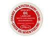 Oil Filler Cap Decal DF164 1964 1/2 - 1966 - Osborn Reproductions