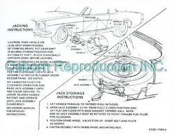 Jacking Instructions Decal DF145 1965 - Osborn Reproductions