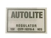 Voltage Regulator ECD Decal with A/C DF412 1965 - 1966 - Osborn Reproductions