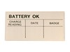 Battery O.K. Decal DF194 1965 - 1973 - Osborn Reproductions