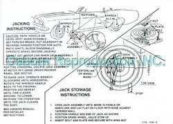 Jacking Instructions Decal DF371 1967 - Osborn Reproductions