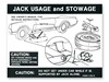 Jacking Instructions Decal with Space Saver DF368 1968 - 1970 - Osborn Reproductions