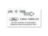 A/C Dryer Decal ECD DF656 1969 - Osborn Reproductions