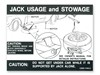 Jacking Instructions Decal Regular Wheel DF78 1969 - 1970 - Osborn Reproductions