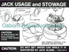 Jacking Instructions Decal Styled Steel Wheel DF77 1969 - 1970 - Osborn Reproductions