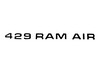 Hood Decal Ram Air Black 429 DF420 1971 - Osborn Reproductions