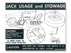 Jacking Instructions Decal DF46 1971 - Osborn Reproductions