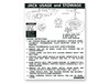 Jacking Instructions Decal Convertible Regular Wheel DF465 1973 - Osborn Reproductions
