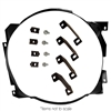 Fan Shroud Bracket Kit 4 Row 1964 1 2 - 1966