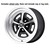 Wheel Magnum 500 5 Lug 15x7 Satin Black 1964 1/2 - 1973 - Legendary Wheel Co.