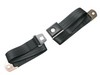 Seat Belt Lap Belt Style Push Button Black 1964 - 1973 - Scott Drake