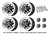 Wheel Kit Aluminum Magnum 500 Satin Black Mustang Wheel Caps 15X7 1964 1/2 - 1973  - Legendary Wheel Co.