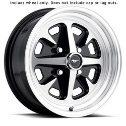 Wheel Magnum 400 4 Lug 15x6 Gloss Black 1964 1/2 - 1973 - Legendary Wheel Co.