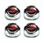 "Wheel Caps Magnum 500 Red Ford Crest Plastic Cap 2 1/8"" Center 1"" Tall Set of 4 1964 1/2 - 1977 - KSI"