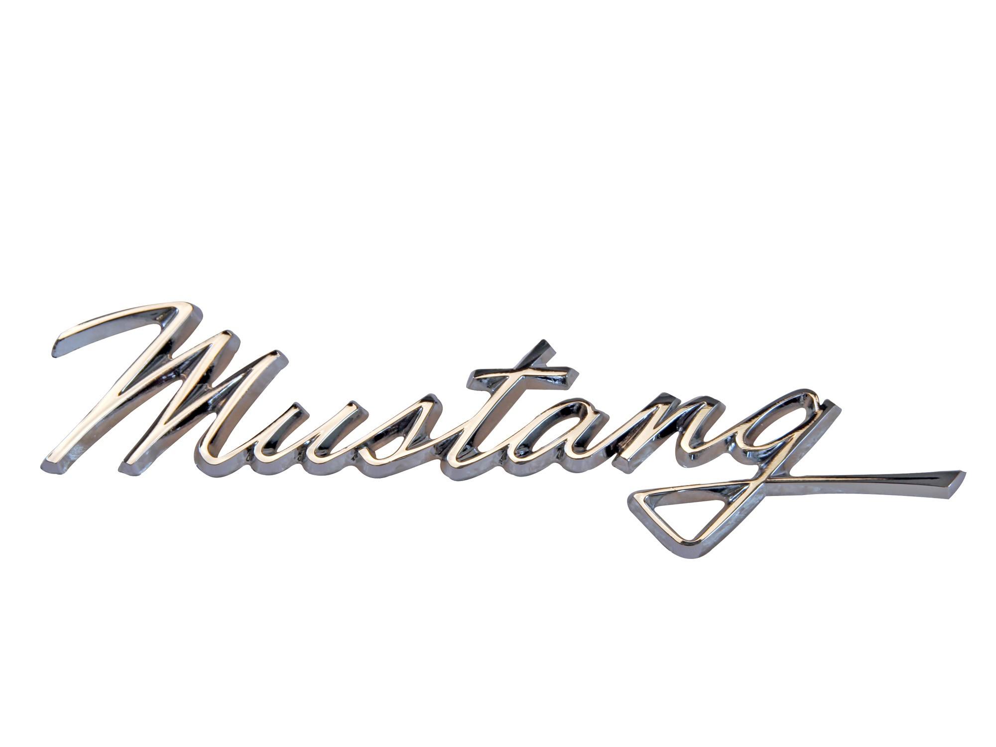 Fender emblem mustang script 1968 scott drake