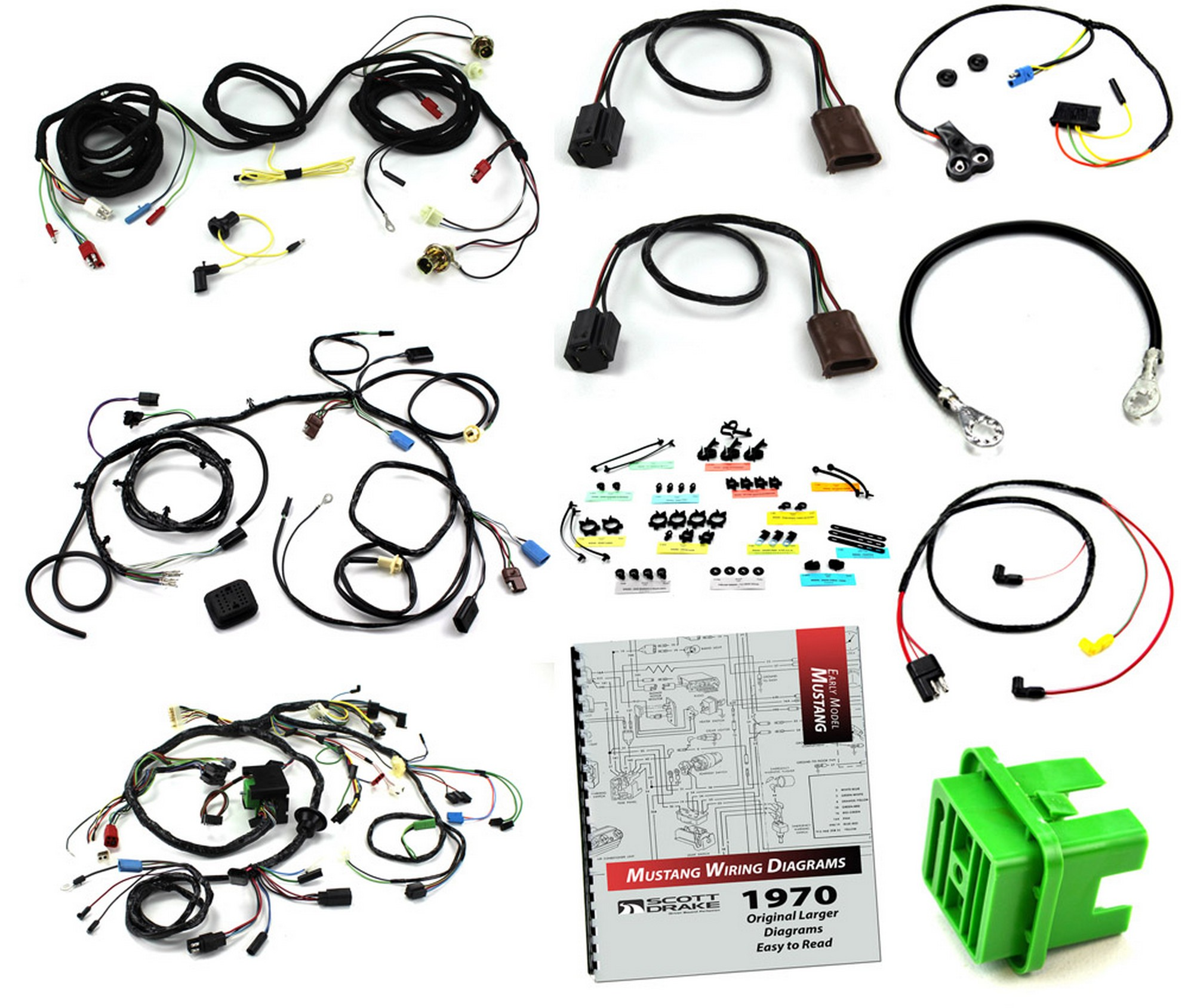Wiring Kit 351c Without Tach With A C Mach 1 With Sport Lamps 1970
