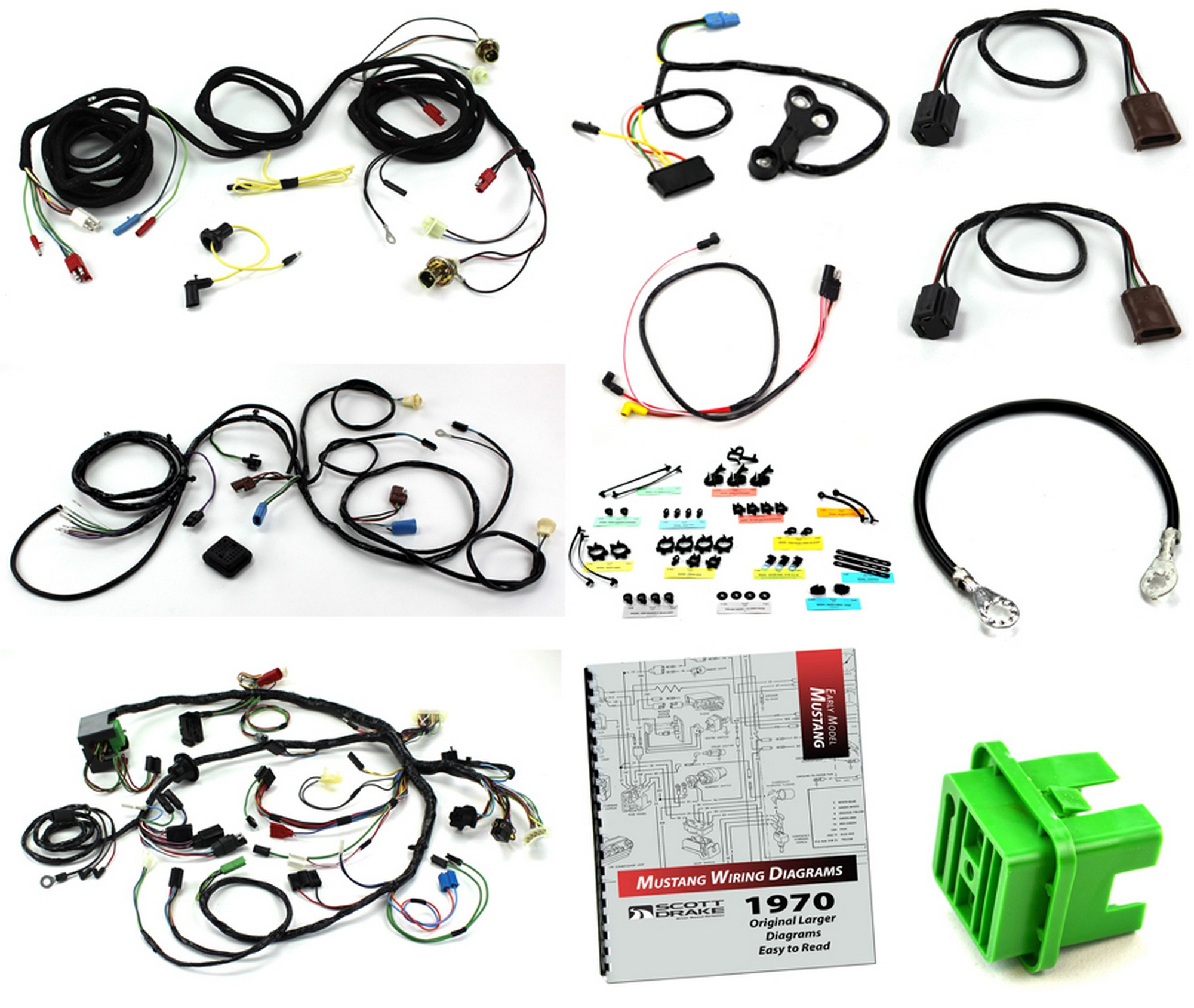 wiring kit boss 302 / with tach / without a/c 1970  kentucky mustang