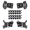 Mustang Door Hinge Kit Both Uppers & Lowers All 4 Hinges with Bolts - 1969 - 1970