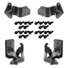 Mustang Door Hinge Kit Both Uppers & Lowers All 4 Hinges with Bolts 1964 1/2 - 1966