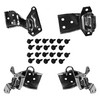 Mustang Door Hinge Kit Both Uppers & Lowers All 4 Hinges with Bolts 1967 - 1968