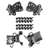Mustang Door Hinge Kit Both Uppers & Lowers All 4 Hinges with Bolts 1971 - 1973