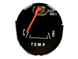 Temperature Gauge Late Style with Gauges 1965 - 1966 - Scott Drake
